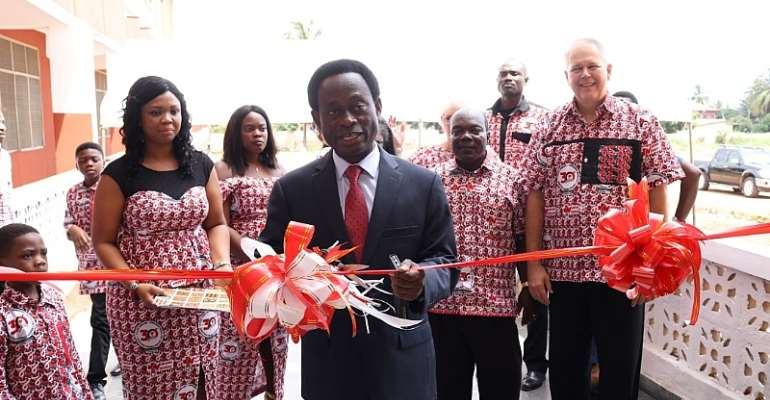 Apostle Professor Opoku Onyinah Commissions The Manna Nursing College