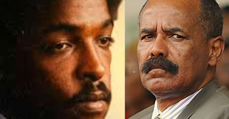 (Left) The Swedish-Eritrean journalist in prison over seventeen years ago.  (Right) President Isaias Afewerki, the man who journalists are his nightmare