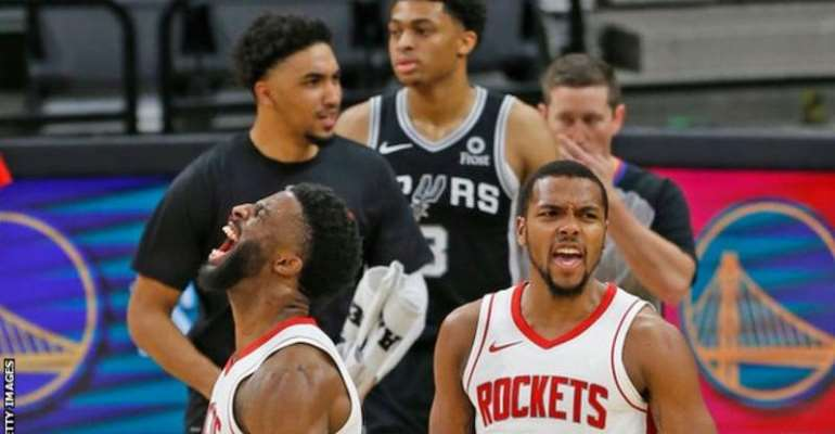 Houston Rockets came back to win 109-105 against San Antonio Spurs