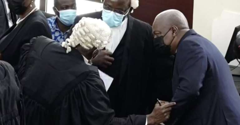 Mahama lawyers amended election petition filed
