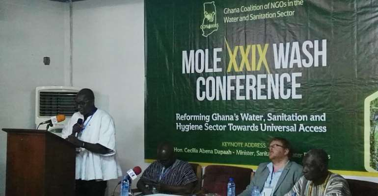Martin Dery addressing participants at the 29th Mole Conference in Sogakope