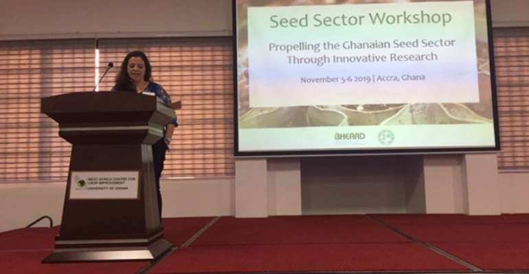 USAID Ghana Agriculture Team Leader & Global Food Security Strategy Country Coordinator, Amber Lily Kenny Delivering Remarks