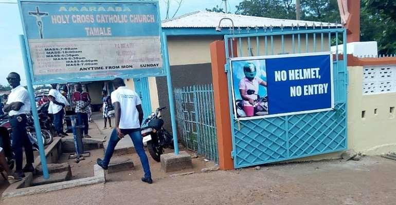Catholic Church Declares 'No Helmet No Entry' In Tamale