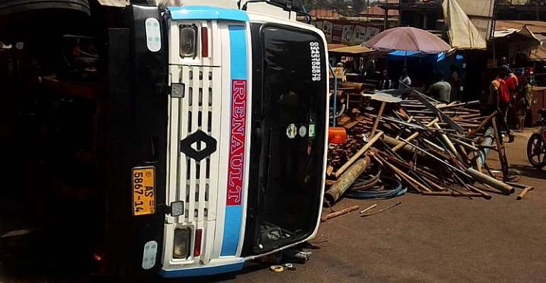 Truck Mangles 5 Cars; One Feared Dead