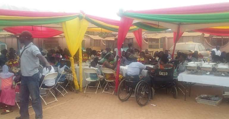 Asokwa PWDs Pray For Service With Love