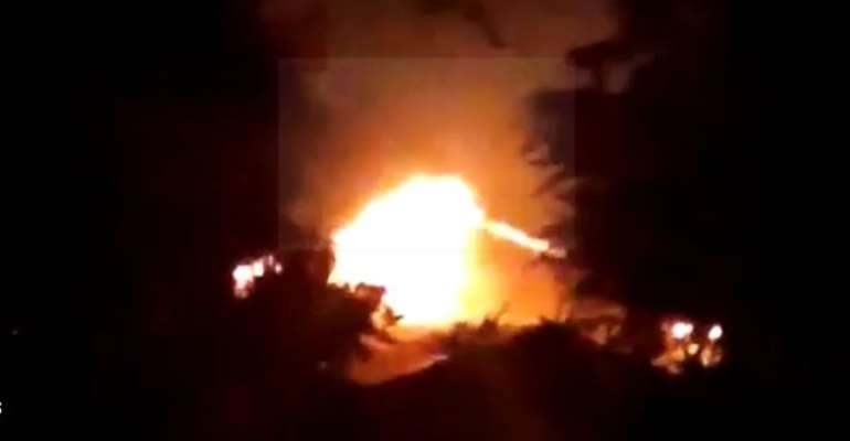 The fire which is said to have started at around 7pm on Wednesday reportedly engulfed parts of some new dormitories