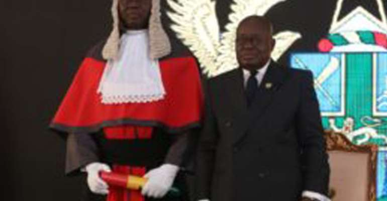 Akufo-Addo Swears In New CHRAJ Boss