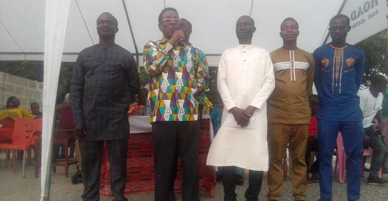 Professor Kwesi Yankah hints of more infrastructure development in Agona East District