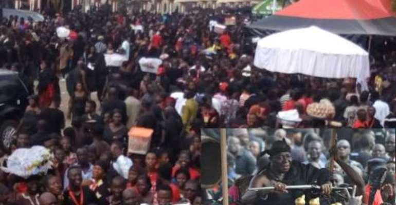 Thousands of mourners pour in for the funeral of the Asantehemaa