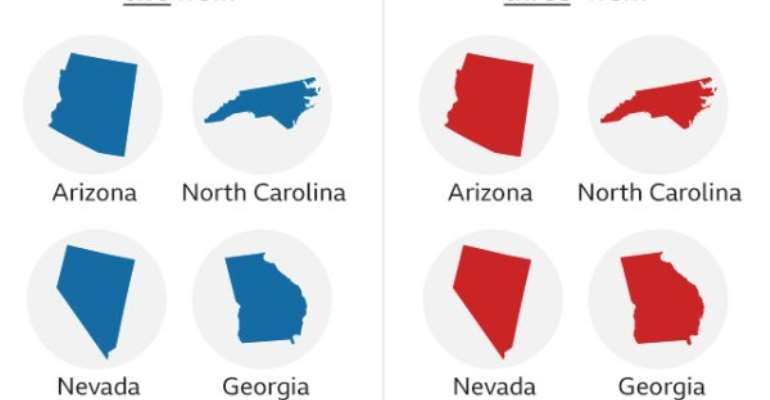 US Election 2020: Who Is Ahead In The States Still Counting?
