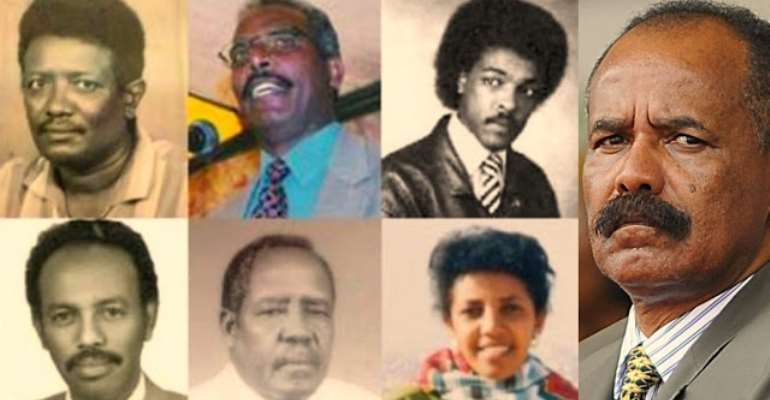 A few of over hundred of political prisoners under the rule of the tyrant Eritrean dictator, Isaias Afewerki