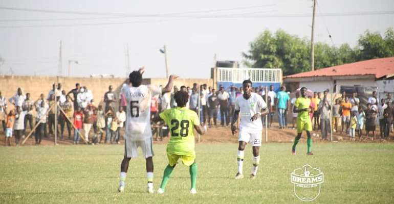GHPL: Dreams FC share spoils with Bechem United after 1-1 draw