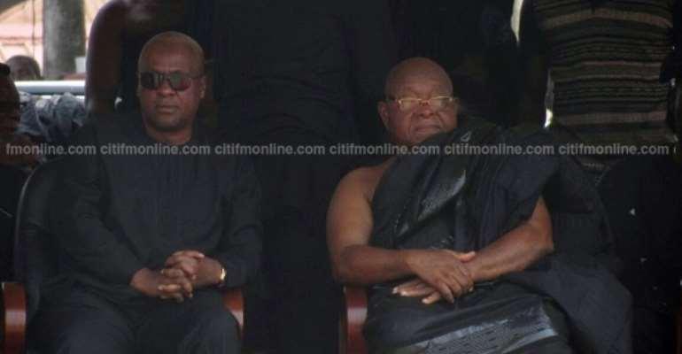 Mahama, Speaker of Parliament, MPs mourn Asantehemaa [Photos]