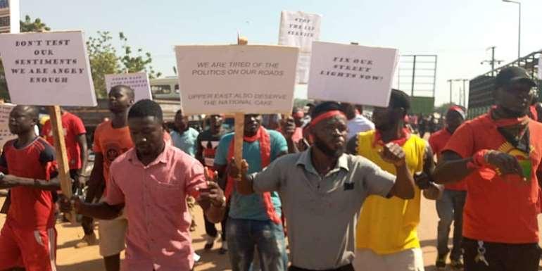 Residents Of Bolgatanga Protest Bad Road