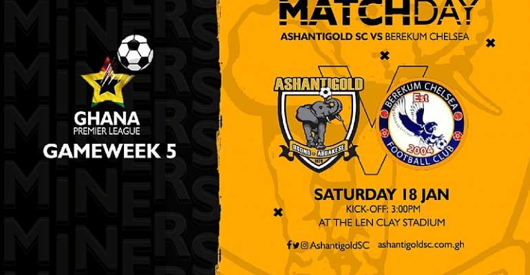 Confirmed Ashgold And Berekum Chelsea Starting Lineup For Today's GPL Cracker