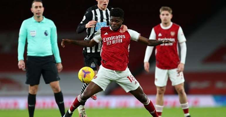 Midfielder Thomas Partey registers assist in Arsenal's 3-0 triumph over Newcastle United
