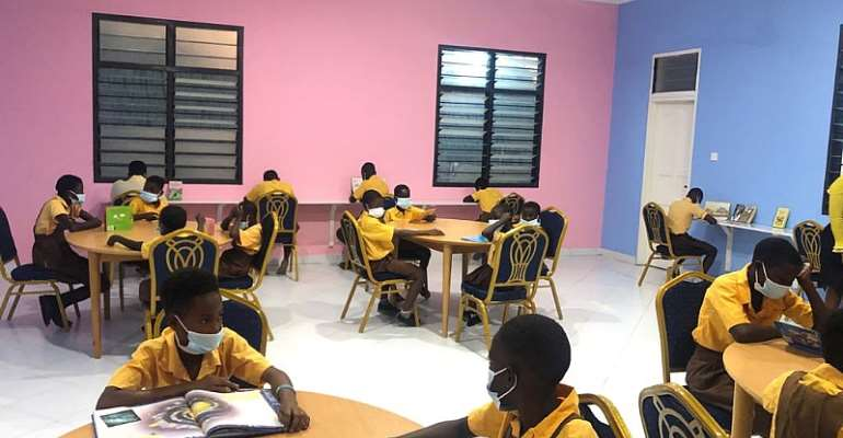 Afenyo-Markin hands over 14th library to constituency