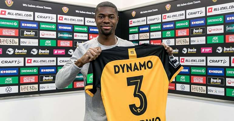 OFFICIAL: Ghanaian defender Leroy Kwadwo joins German outfit SG Dynamo Dresden