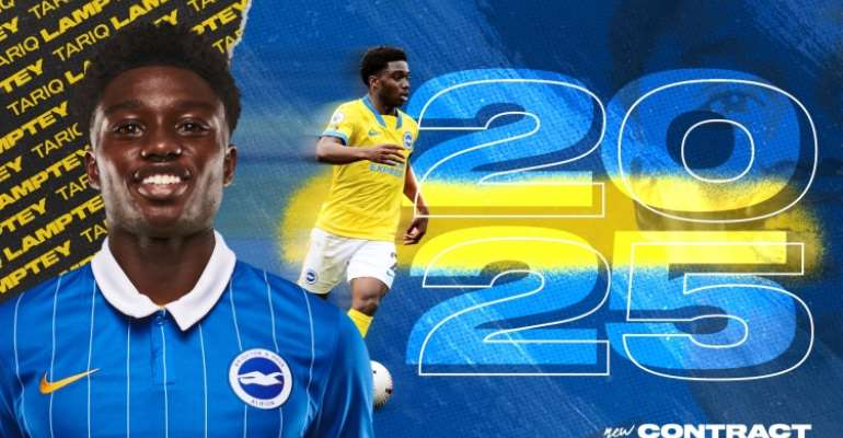Ghanaian youngster Tariq Lamptey extends Brighton & Hove Albion deal