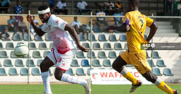 Sharp shooting Daniel Lomotey outscores six clubs, ties with Asante Kotoko SC after matchday 8