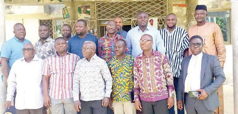 Isaac Afreh (right) with the NDC Ashanti Regional Manifesto Committee members
