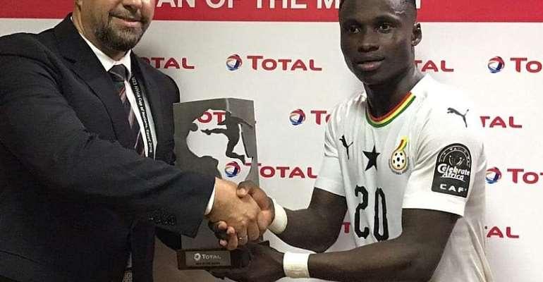 CAF U-23 AFCON: Evans Mensah Named Man Of The Match Against Cameroon