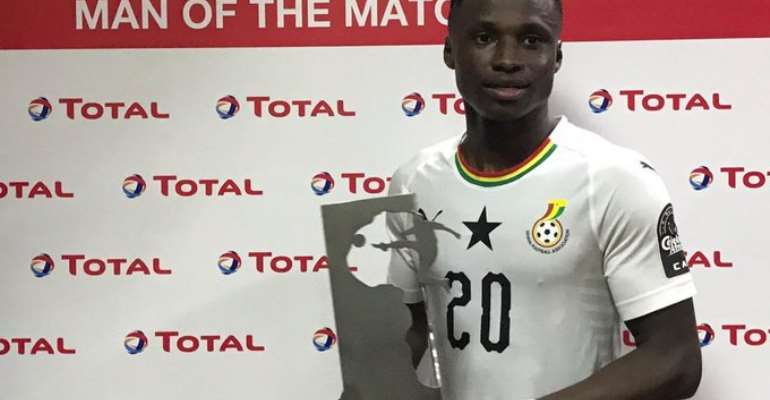 Delighted Evans Mensah Dedicates Man Of The Match Award To Ghanaians