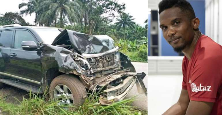 Cameroon And Barcelona Legend Samuel Eto'o Involed In Accident But In Stable Condition