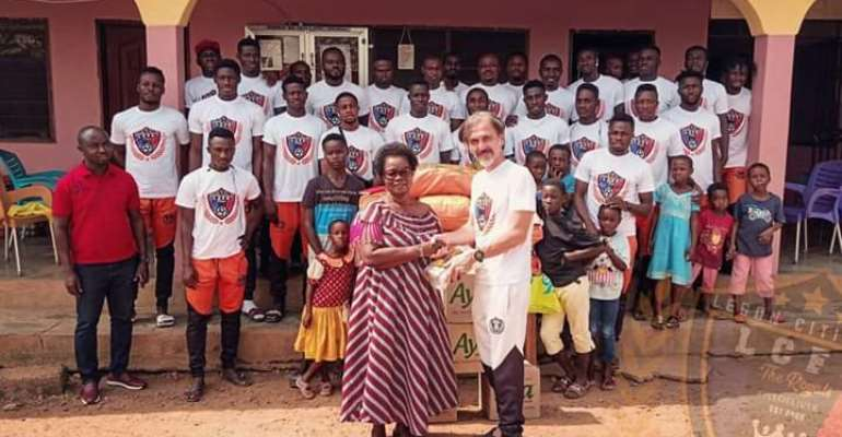Legon Cities FC Donates To Compassion Is Love In Action Orphanage