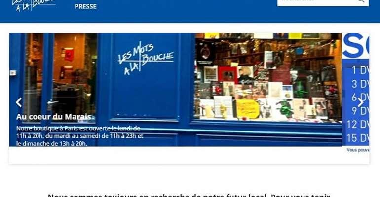 Les Mots a la Bouche website