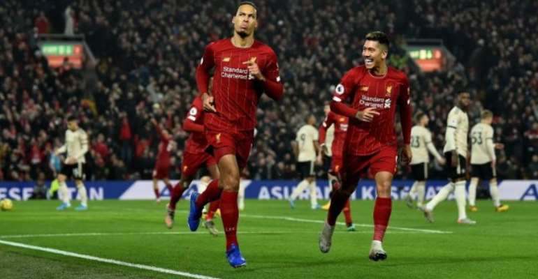 Van Dijk And Salah Down Man United As Relentless Liverpool Move Closer To Premier League Title