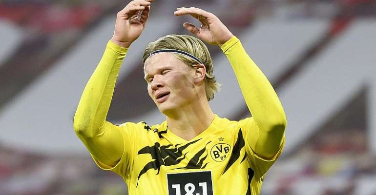 Borussia Dortmund striker Erling Haaland shows his frustration  Image credit: Getty Images
