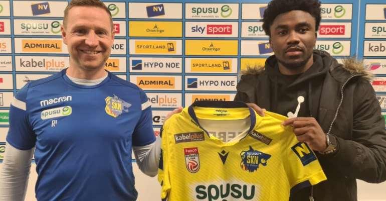 BREAKING NEWS: Ghana striker Samuel Tetteh joins Austrian side SKN St. Pölten on loan