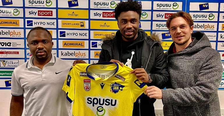 PHOTOS: Ghana attacker Samuel Tetteh completes loan move to Austrian outfit St. Polten