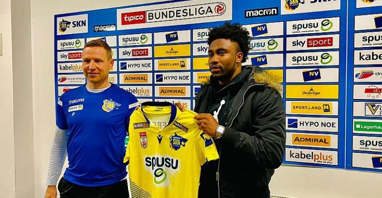 St. Polten sports director Georg Zellhofer delighted with signing of winger Samuel Tetteh