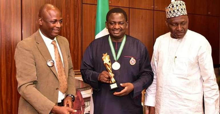 Femi Adesina Decorated As Ambassador Of Rape- Sex Abuja Campaign,Receives West Africa Media Personality Award