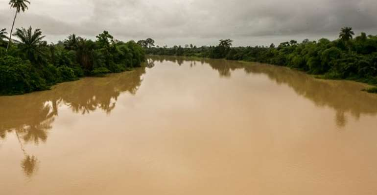 Polluted River Pra
