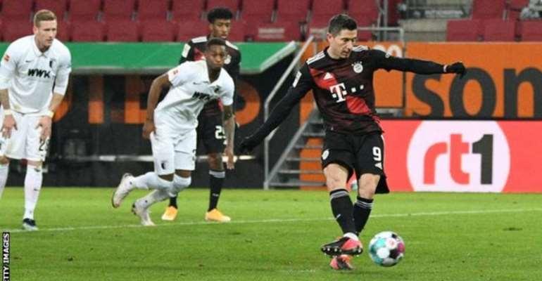 The only team Robert Lewandowski has scored more Bundesliga goals against than Augsburg (20) is Wolfsburg (23)