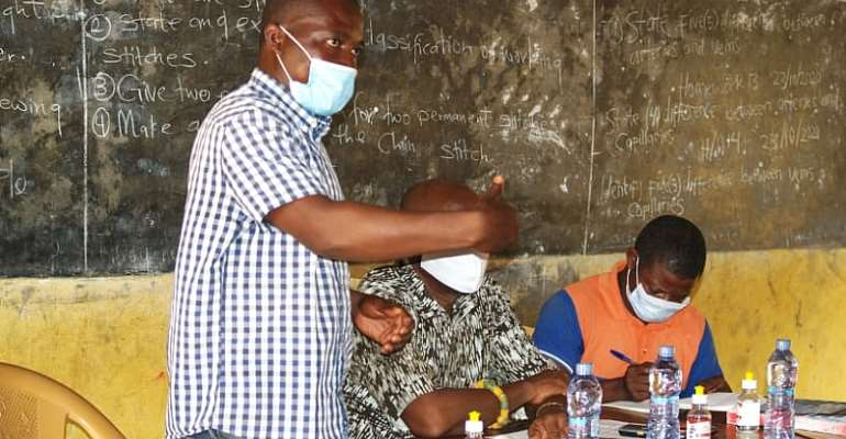 Akatsi South: Assemblymember of Tatorme-Fiato donates PPE to schools
