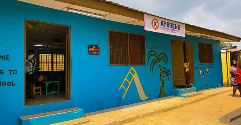 Karpowership Ghana renovates Ayebeng Memorial Kindergarten block; gives school facelift