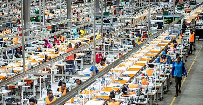 Garment factory at the Hawassa Industrial Park in Hawassa, southern Ethiopia. - Source: Photo by EYERUSALEM JIREGNA/AFP via Getty Images