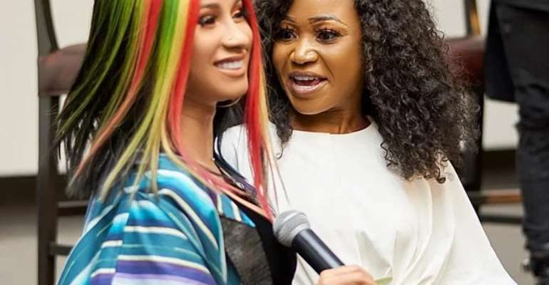 Ecstatic Akuapem Poloo thanks Cardi B for following her on IG