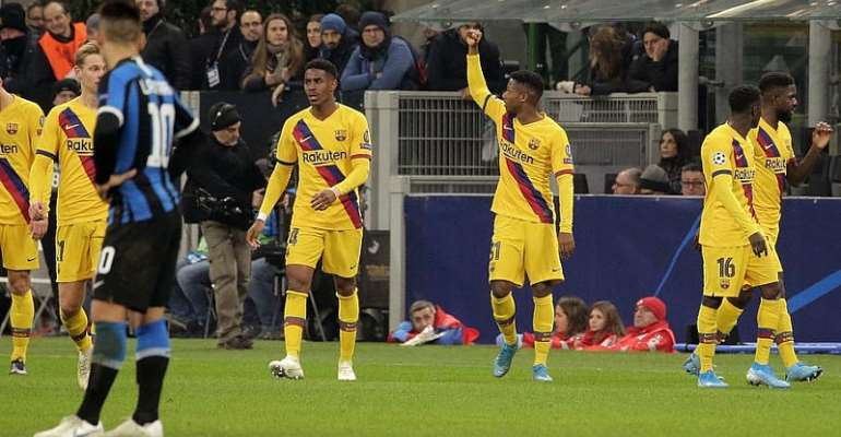 UCL: Fati Makes History As Barca Knock Inter Out