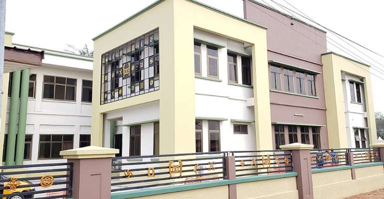 The National House of Chiefs building in Manhyia in Kumasi