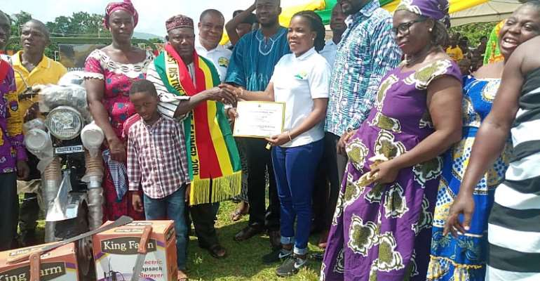 65 Year Old J.B. Tanzienye Adjudged 2019 District Best Farmer In Obuasi East