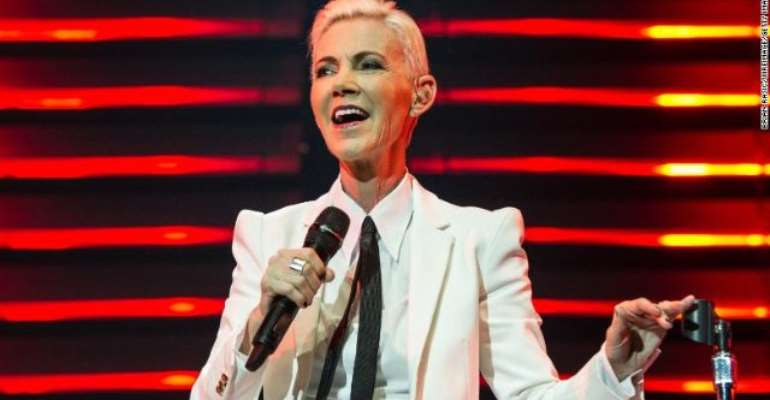 Marie Fredriksson of Roxette performs at London's O2 Arena on July 13, 2015.