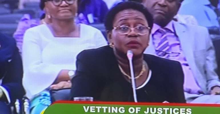 Justice Gertrude Torkonoo before the Appointments Committee
