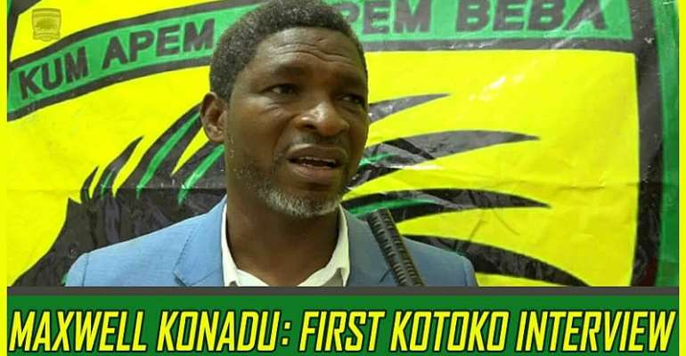 Watch Coach Maxwell Konadu's First Interview After Returning to Kotoko [VIDEO]