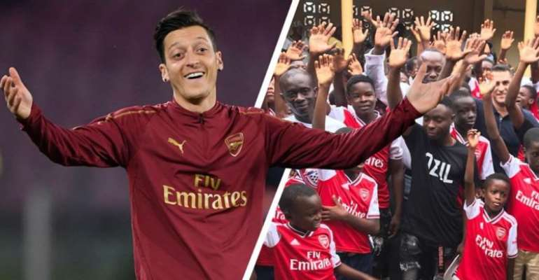 Mesut Ozil Excited After Discovering Ghanaian Club Has Been Named After Him