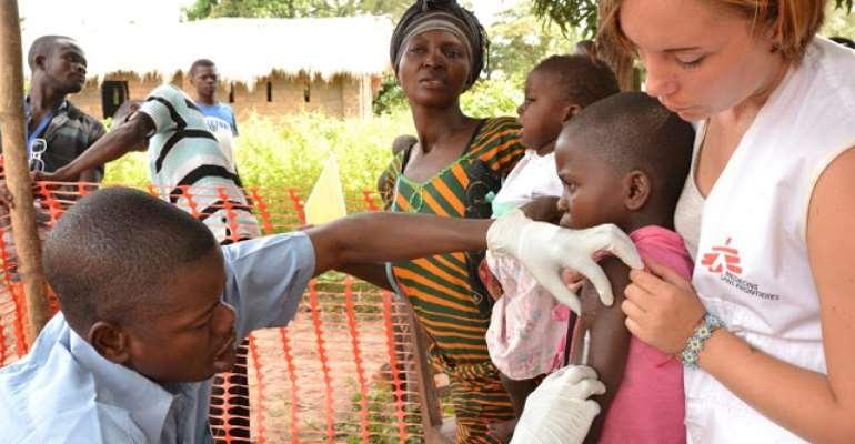 Médecins Sans Frontières workers in Congo, photo credit: Congo media